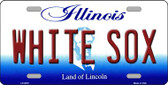 Whitesox Illinois Novelty State Background Wholesale Metal License Plate LP-2078