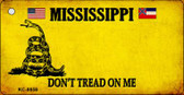 Mississippi Don't Tread On Me Wholesale Novelty Key Chain