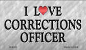 I Love Corrections Officer Wholesale Novelty Metal Magnet
