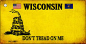 Wisconsin Don't Tread On Me Wholesale Novelty Key Chain