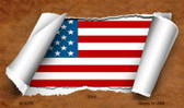 American Flag Scroll Wholesale Novelty Metal Magnet