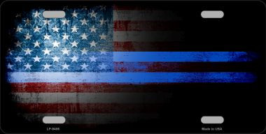 American Flag Police Novelty Wholesale Metal License Plate