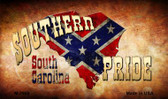 Southern Pride South Carolina Wholesale Novelty Metal Magnet
