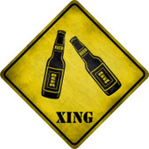 Beer Xing Wholesale Novelty Metal Crossing Sign