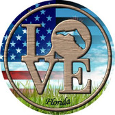 Love Florida Wholesale Novelty Metal Circular Sign