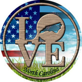 Love North Carolina Wholesale Novelty Metal Circular Sign