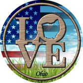 Love Ohio Wholesale Novelty Metal Circular Sign