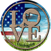 Love Washington Wholesale Novelty Metal Circular Sign