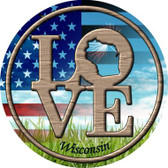 Love Wisconsin Wholesale Novelty Metal Circular Sign