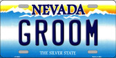 Groom Nevada Background Novelty Wholesale Metal License Plate