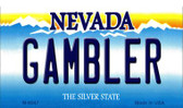 Gambler Nevada Background Wholesale Novelty Metal Magnet