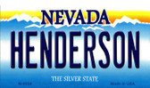 Henderson Nevada Background Wholesale Novelty Metal Magnet