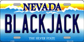 Black Jack Nevada Background Novelty Wholesale Metal License Plate