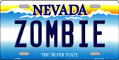 Zombie Nevada Background Novelty Wholesale Metal License Plate