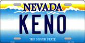 Keno Nevada Background Novelty Wholesale Metal License Plate