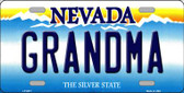 Grandma Nevada Background Novelty Wholesale Metal License Plate