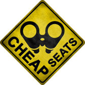 Cheap Seats Wholesale Novelty Metal Crossing Sign