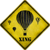 Air Balloon Xing Wholesale Novelty Metal Crossing Sign
