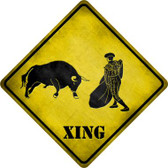 Bullfight Xing Wholesale Novelty Metal Crossing Sign