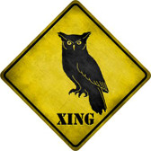 Owl Xing Wholesale Novelty Metal Crossing Sign