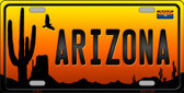 Arizona Scenic Background Novelty Wholesale Metal License Plate
