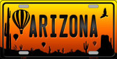 Balloon Arizona Scenic Background Novelty Wholesale Metal License Plate
