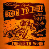Born To Ride Wholesale Novelty Metal Square Sign