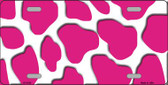 Pink White Giraffe Print Wholesale Metal Novelty License Plate