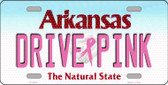 Drive Pink Arkansas Novelty Wholesale Metal License Plate