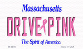 Drive Pink Massachusetts Wholesale Novelty Metal Magnet