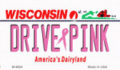 Drive Pink Wisconsin Wholesale Novelty Metal Magnet