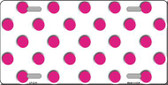 Hot Pink Polka Dots White Wholesale Metal Novelty License Plate