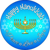 Happy Hanukkah Wholesale Novelty Metal Circular Sign
