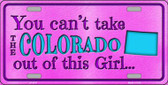 Colorado Girl Novelty Wholesale Metal License Plate