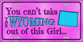 Wyoming Girl Novelty Wholesale Metal License Plate