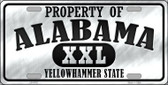 Property Of Alabama Novelty Wholesale Metal License Plate