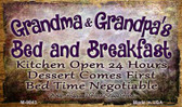 Grandma And Grandpas Bed And Breakfast Wholesale Novelty Metal Magnet