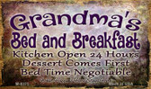 Grandmas Bed And Breakfast Wholesale Novelty Metal Magnet