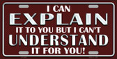 I Can Explain Novelty Wholesale Metal License Plate