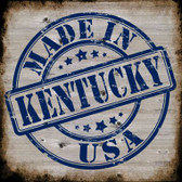 Kentucky Stamp On Wood Wholesale Novelty Metal Square Sign
