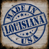 Louisiana Stamp On Wood Wholesale Novelty Metal Square Sign