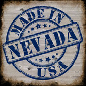 Nevada Stamp On Wood Wholesale Novelty Metal Square Sign