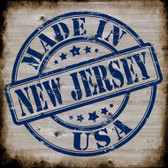 New Jersey Stamp On Wood Wholesale Novelty Metal Square Sign