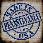 Pennsylvania Stamp On Wood Wholesale Novelty Metal Square Sign