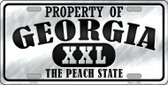 Property Of Georgia Novelty Wholesale Metal License Plate