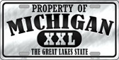 Property Of Michigan Novelty Wholesale Metal License Plate
