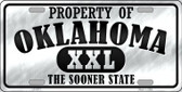 Property Of Oklahoma Novelty Wholesale Metal License Plate