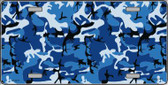 Blue Camouflage Background Wholesale Metal Novelty License Plate