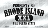 Property Of Rhode Island Wholesale Novelty Metal Magnet