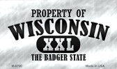 Property Of Wisconsin Wholesale Novelty Metal Magnet